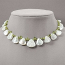 Mother of Pearl & Peridot Necklace