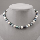 Sterling Multicolored Freshwater Pearl Necklace