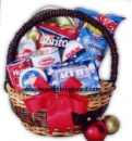 Around the world Christmas Basket
