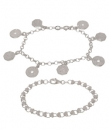 Sterling Silver Novelty Bracelet Set