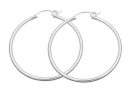 Beautiful Sterling Hoop Earrings