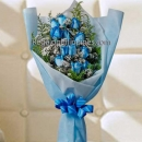 Blue Roses In A Bouquet