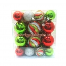 30-Pack Multi Shatterproof Christmas Ornaments