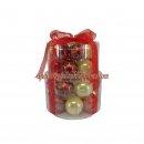 20-Pack Red/Gold Glass Ball Ornaments