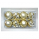 8-Pack Gold Shatterproof Christmas Ornament Set