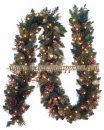 9' Harvest Gold Garland with Pine Cones