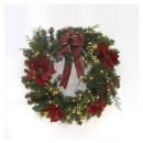 20 inches 100-Light Poinsettia Wreath