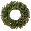 18 inches Douglas Fir Wreath, 50 Clear Lamps