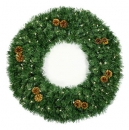 "18"" Pre-Lit Winchester Fir Wreath, 100 Clear Lamps"
