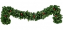 9' Pre-Lit Winchester Fir Garland , with Clear Lamps