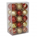 50-Pack Shatterproof Christmas Ornaments