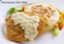 Contis Parmesan Fish Fillet w/ Parsley   Sauce