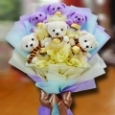 6 Mini Bear & 6 Rocher Hand Bouquet